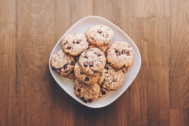 cookies dans l'assiette