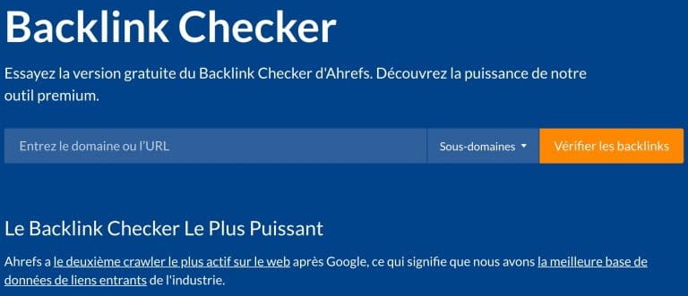 ahref trouver les backlinks
